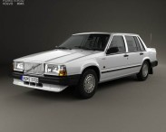 3D model of Volvo 744 sedan 1985