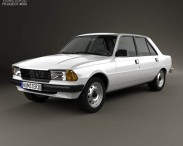 3D model of Peugeot 305 sedan 1977