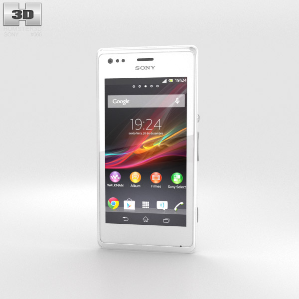 Sony Xperia M White 3D model - Humster3D