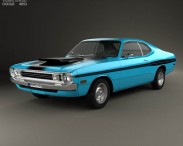 3D model of Dodge Demon 340 1972