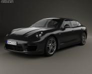3D model of Porsche Panamera Turbo 2014