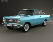3D model of Opel Rekord (A) 2-door sedan 1963