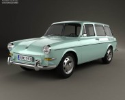 3D model of Volkswagen Type 3 (1600) variant 1965
