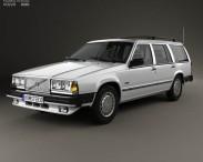 3D model of Volvo 745 kombi 1985 US