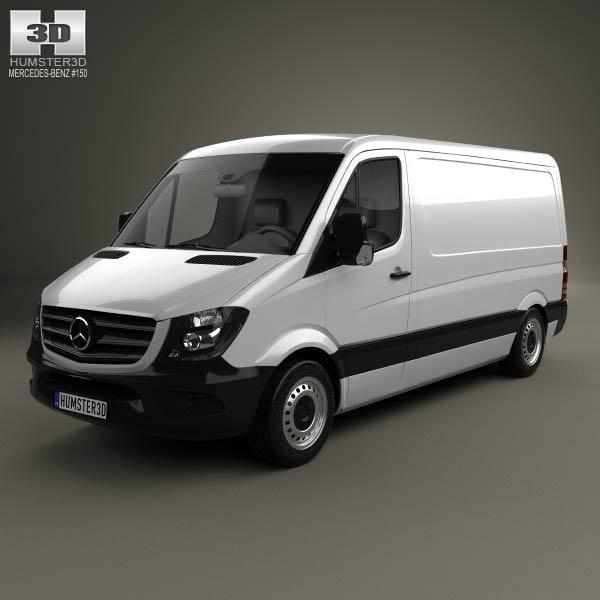 3D model of Mercedes-Benz Sprinter Panel Van SWB SR 2013