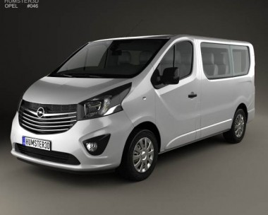 3D model of Opel Vivaro Passenger Van 2014