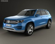 3D model of Volkswagen CrossBlue 2013