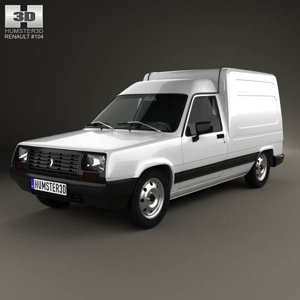 Renault Express Rapid Renault Express 1985 3d Model