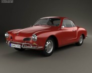 3D model of Volkswagen Karmann Ghia 1955