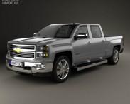 3D model of Chevrolet Silverado Crew Cab High Country 2014