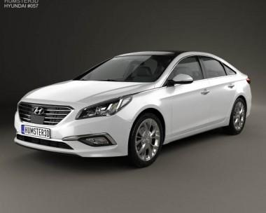 3D model of Hyundai Sonata (LF) 2015