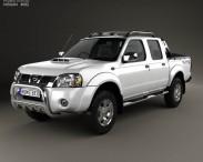 3D model of Nissan Navara (NP300) Double Cab Hardbody Silver 2013