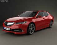 3D model of Acura TLX Concept 2015