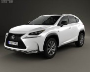 3D model of Lexus NX F Sport 2014
