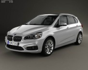 3D model of BMW 2 Series Active Tourer (F45) 2014