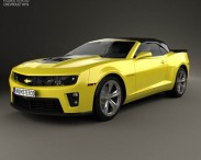 3D model of Chevrolet Camaro ZL1 convertible 2014