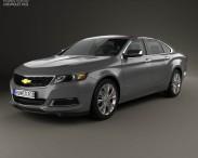 3D model of Chevrolet Impala LS 2014