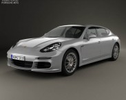 3D model of Porsche Panamera Turbo Executive 2014
