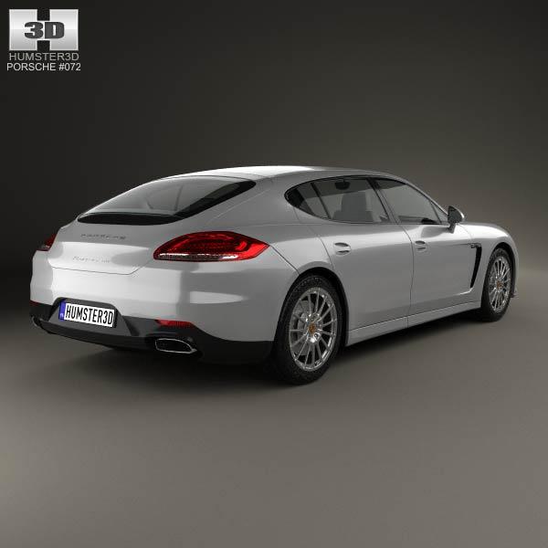 porsche panamera disel 2014 3d car model Car Pictures