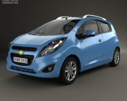 3D model of Chevrolet Spark LS 2013