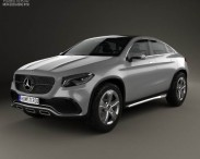 3D model of Mercedes-Benz Coupe SUV 2014