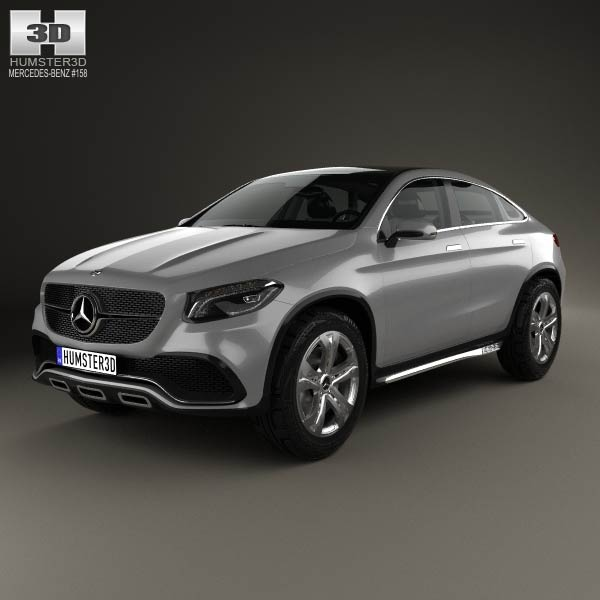 Mercedes benz coupe suv 2014 3d model humster3d for Mercedes benz suv models