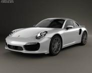 3D model of Porsche 911 Carrera (991) Turbo 2012