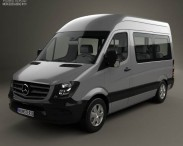 3D model of Mercedes-Benz Sprinter Passenger Van CWB HR 2013