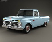 3D model of Ford F-100 1966