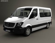 3D model of Mercedes-Benz Sprinter Passenger Van CWB SR 2013