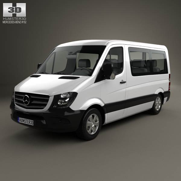 Mercedes benz sprinter passenger van cwb sr 2013 3d model for Mercedes benz passenger van