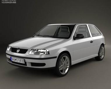 3D model of Volkswagen Gol 3-door 2003
