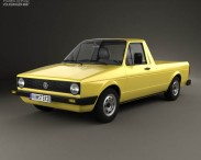 3D model of Volkswagen Caddy (Type 14) 1982