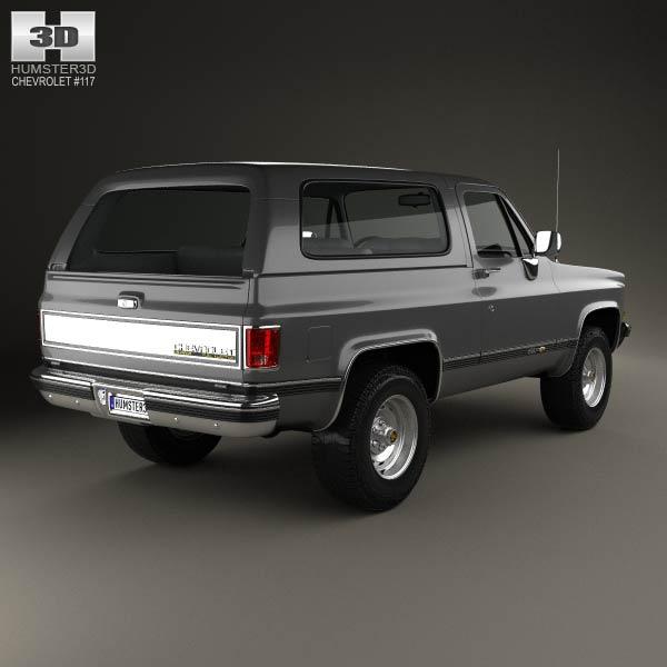 Chevrolet Blazer (K5) 1989 3D model - Humster3D
