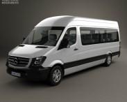 3D model of Mercedes-Benz Sprinter Passenger Van LWB HR 2013
