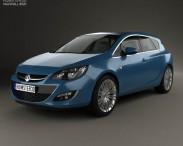 3D model of Vauxhall Astra 5-door hatchback 2012