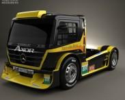 3D model of Mercedes-Benz Axor Formula Truck 2011