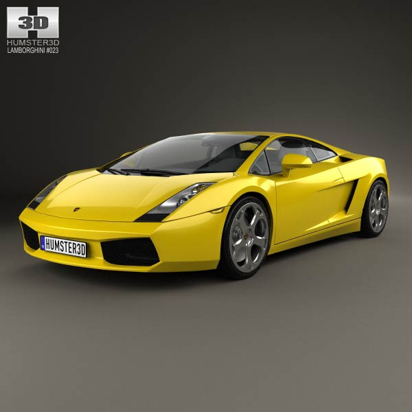3D model of Lamborghini Gallardo 2003