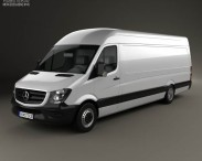 3D model of Mercedes-Benz Sprinter Panel Van ELWB HR 2013