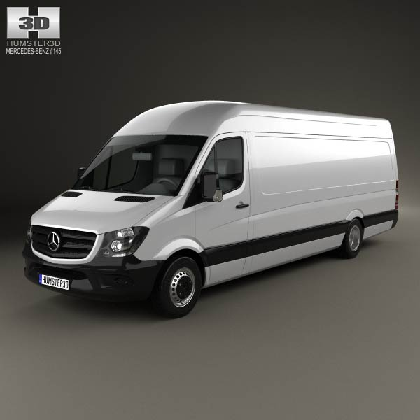 mercedes benz sprinter panel van elwb hr 2013 3d model