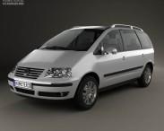 3D model of Volkswagen Sharan 2004