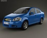 3D model of Chevrolet Aveo (T250) sedan 2006