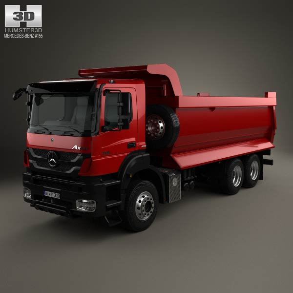 Mercedes benz axor tipper truck 2005 3d model humster3d for Mercedes benz truck models