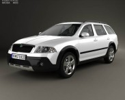 3D model of Skoda Octavia Scout 2005