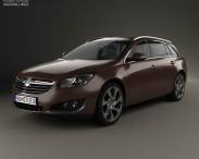 3D model of Vauxhall Insignia Sports Tourer 2013