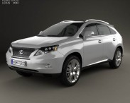 3D model of Lexus RX hybrid 2009