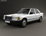 3D model of Mercedes-Benz 190 (W201) 1982