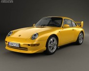 3D model of Porsche 911 Carrera RS Clubsport (993) 1995
