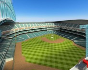 3D model of Houston Astros Minute Maid Park Baseball Stadium