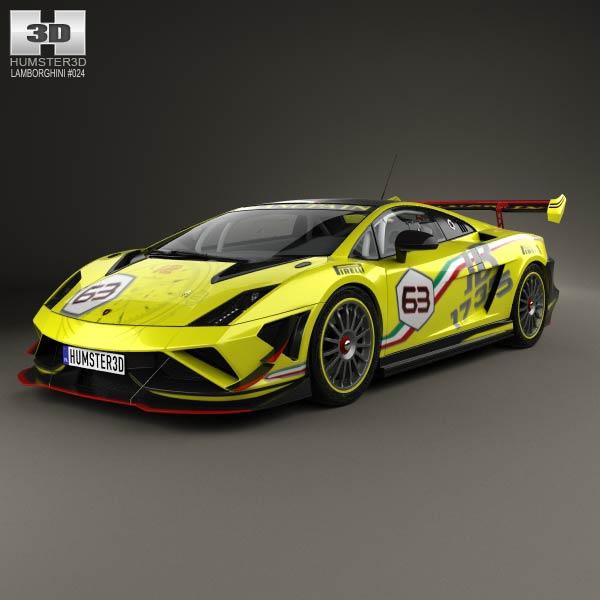 3D model of Lamborghini Gallardo LP 570-4 Super Trofeo 2013